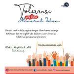 Toleransi yang Benar Menurut Islam